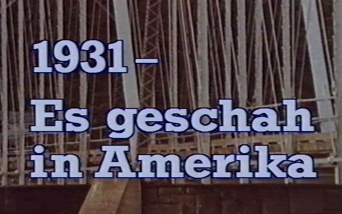 1931 - Es geschah in Amerika